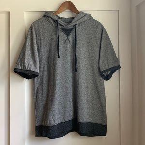 Brooklyn Cloth Short Sleeve Hoodie, Large
